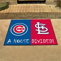 "Chicago Cubs - St. Louis Cardinals House Divided Rug 34""x45"""