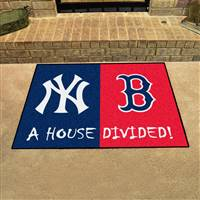 "New York Yankees - Boston Red Sox House Divided Rug 34""x45"""