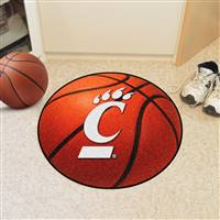 "University of Cincinnati Basketball Mat 27"" diameter"