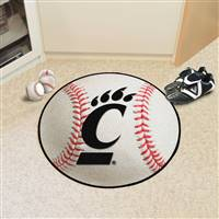 "University of Cincinnati Baseball Mat 27"" diameter"