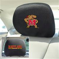 "University of Maryland Head Rest Cover 10""x13"""