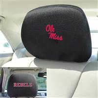 "University of Mississippi (Ole Miss) Head Rest Cover 10""x13"""