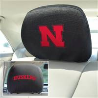 "University of Nebraska Head Rest Cover 10""x13"""
