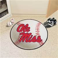 "University of Mississippi (Ole Miss) Baseball Mat 27"" diameter"