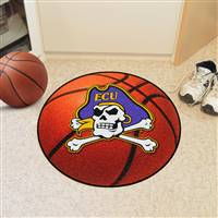 "East Carolina Pirates Basketball Rug 29"" diameter"