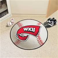 "Western Kentucky University Baseball Mat 27"" diameter"