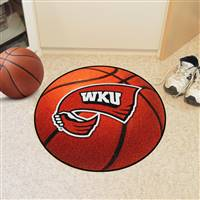 "Western Kentucky University Basketball Mat 27"" diameter"