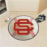 "University of Southern California Baseball Mat 27"" diameter"