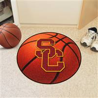 "University of Southern California Basketball Mat 27"" diameter"
