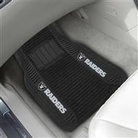 "NFL - Las Vegas Raiders 2-pc Deluxe Car Mat Set 21""x27"""