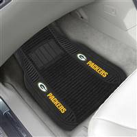"NFL - Green Bay Packers 2-pc Deluxe Car Mat Set 21""x27"""