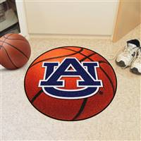 "Auburn Tigers Basketball Rug 29"" Diameter"