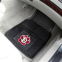 "University of South Dakota 2-pc Vinyl Car Mat Set 17""x27"""
