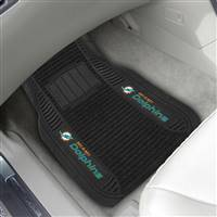 "NFL - Miami Dolphins 2-pc Deluxe Car Mat Set 21""x27"""