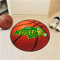 "North Dakota State University Basketball Mat 27"" diameter"