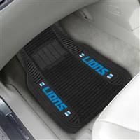 "NFL - Detroit Lions 2-pc Deluxe Car Mat Set 21""x27"""