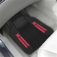 "University of Nebraska 2-pc Deluxe Car Mat Set 21""x27"""