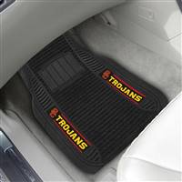 "University of Southern California 2-pc Deluxe Car Mat Set 21""x27"""