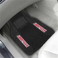 "University of Louisville 2-pc Deluxe Car Mat Set 21""x27"""
