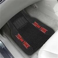 "Texas Tech University 2-pc Deluxe Car Mat Set 21""x27"""