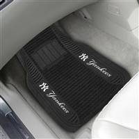 "New York Yankees 2-pc Deluxe Car Mat Set 21""x27"""