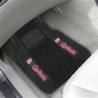 "St. Louis Cardinals 2-pc Deluxe Car Mat Set 21""x27"""
