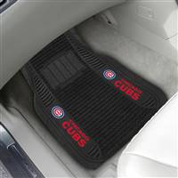 "Chicago Cubs 2-pc Deluxe Car Mat Set 21""x27"""