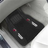 "NBA - Miami Heat 2-pc Deluxe Car Mat Set 21""x27"""