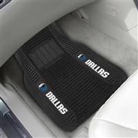 "NBA - Dallas Mavericks 2-pc Deluxe Car Mat Set 21""x27"""