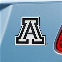 "University of Arizona Chrome Emblem 3""x3.2"""