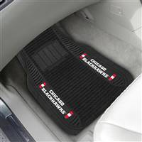 "NHL - Chicago Blackhawks 2-pc Deluxe Car Mat Set 21""x27"""
