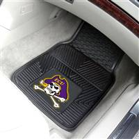 "East Carolina University 2-pc Vinyl Car Mat Set 17""x27"""