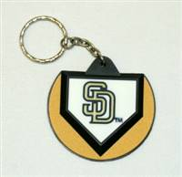 San Diego Padres Keychain - Home Plate