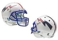 Air Force Falcons Schutt Authentic XP Full Size Helmet - White Alternate Helmet 3 - Special Order