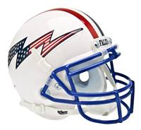 Air Force Falcons Schutt XP Full Size Replica Helmet - White Alternate Helmet #3 - Special Order