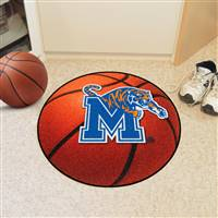 "Memphis Tigers Basketball Rug 29"" diameter"