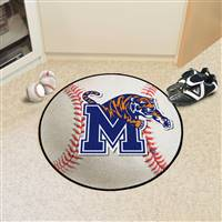 "University of Memphis Baseball Mat 27"" diameter"