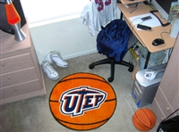 "UTEP Basketball Rug 29"" diameter"