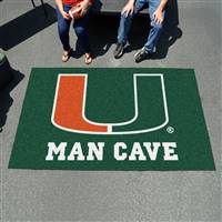 "University of Miami Man Cave UltiMat 59.5""x94.5"""