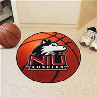 "Northern Illinois (NIU) Huskies Basketball Rug 29"" diameter"