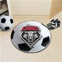 "New Mexico Lobos Soccer Ball Rug 29"" Diameter"