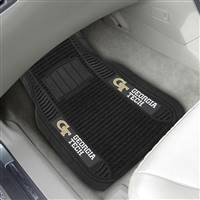 "Georgia Tech 2-pc Deluxe Car Mat Set 21""x27"""