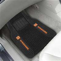 "Syracuse University 2-pc Deluxe Car Mat Set 21""x27"""
