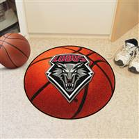 "New Mexico Lobos Basketball Rug 29"" diameter"