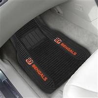"NFL - Cincinnati Bengals 2-pc Deluxe Car Mat Set 21""x27"""