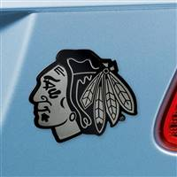 "NHL - Chicago Blackhawks Chrome Emblem 2.7""x3.2"""