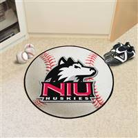 "Northern Illinois (NIU) Huskies Baseball Rug 29"" diameter"