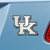 "University of Kentucky Chrome Emblem 2""x3.2"""