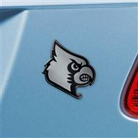 "University of Louisville Chrome Emblem 2.9""x3.2"""
