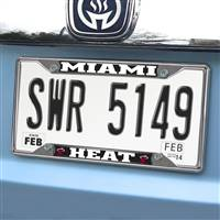"NBA - Miami Heat License Plate Frame 6.25""x12.25"""